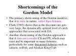 shortcomings of the gordon model