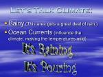 let s talk climate