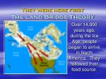 they were here first the land bridge theory