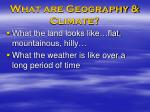 what are geography climate