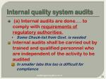 internal quality system audits