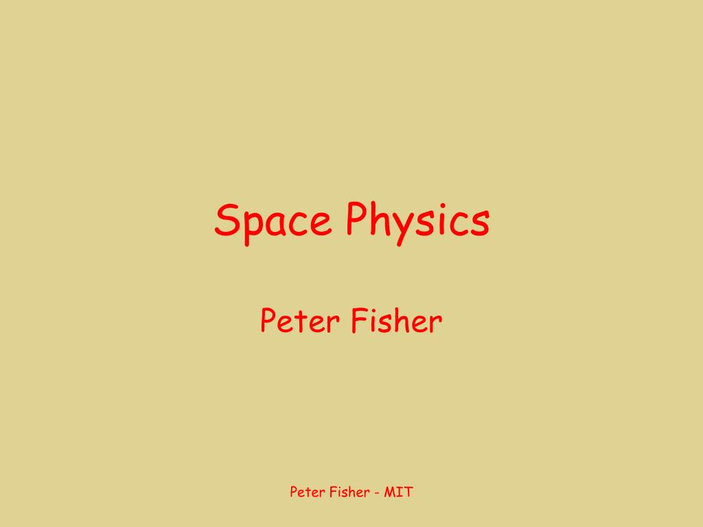 space physics l.
