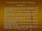 comparison to other energy systems