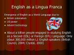 english as a lingua franca