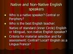 native and non native english speakers