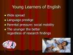 young learners of english