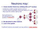 neutrons may