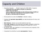 capacity and children