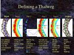 defining a thalweg