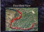 final data view