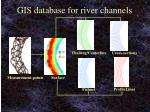 gis database for river channels