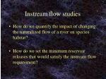 instream flow studies