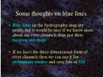 some thoughts on blue lines