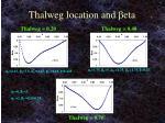 thalweg location and b eta