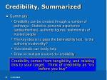 credibility summarized