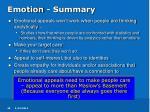 emotion summary