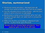 stories summarized