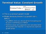 terminal value constant growth