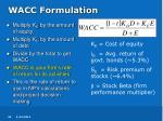 wacc formulation