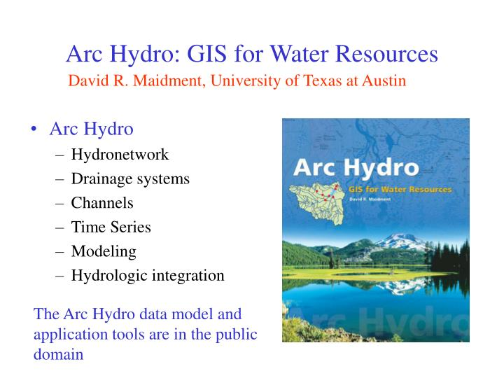 arc hydro gis for water resources n.