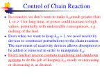 control of chain reaction26