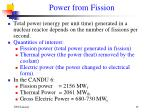power from fission