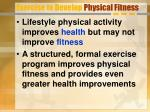 exercise to develop physical fitness