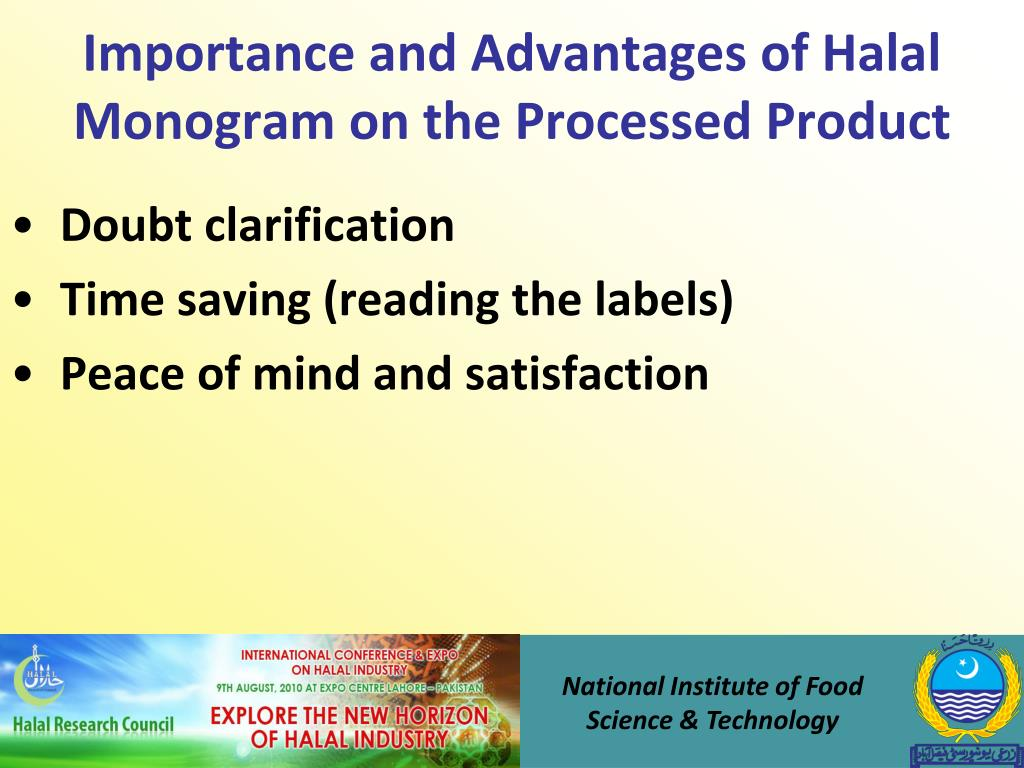 Importance and Advantages of Halal Monogram on the Processed Product