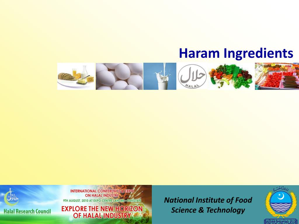 Haram Ingredients