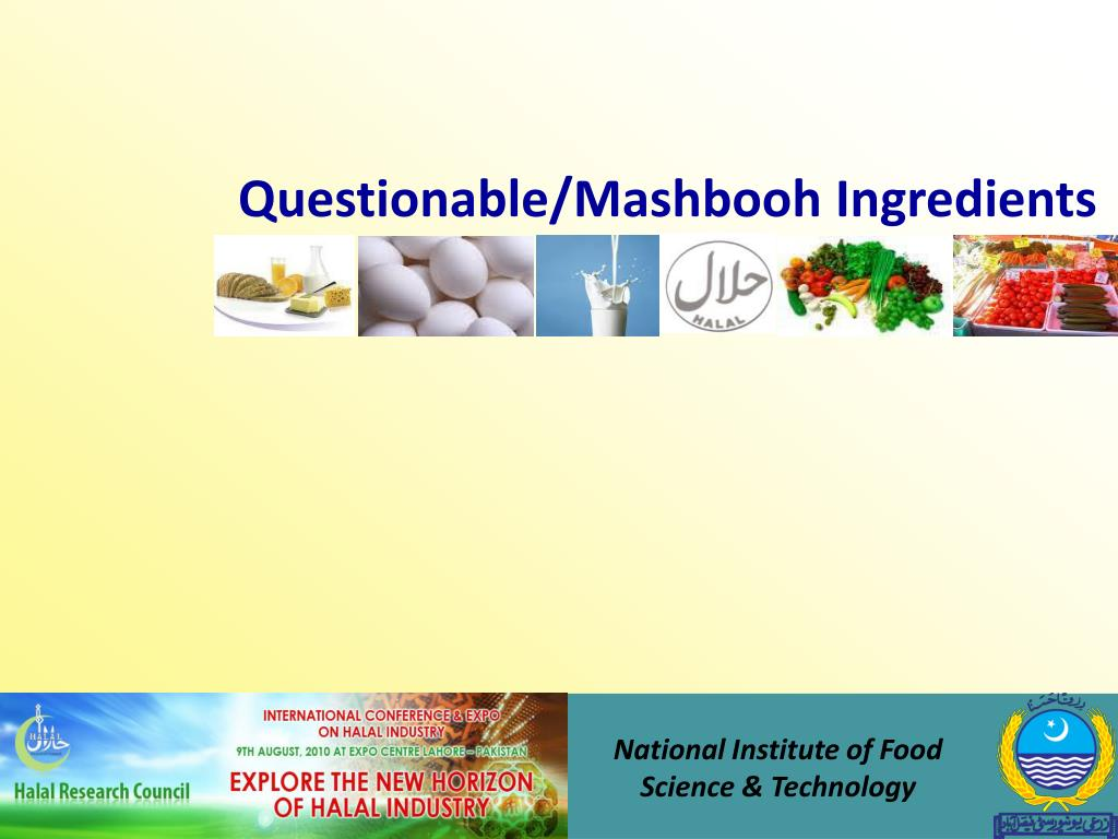 Questionable/Mashbooh Ingredients