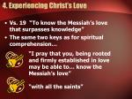4 experiencing christ s love
