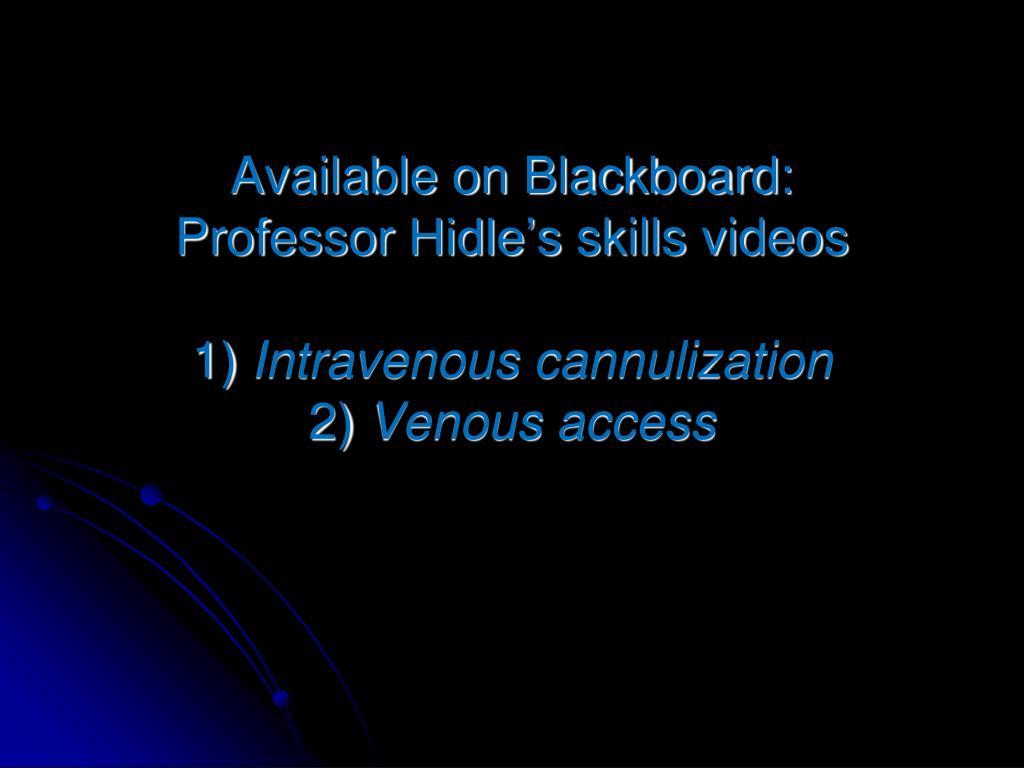 Available on Blackboard: