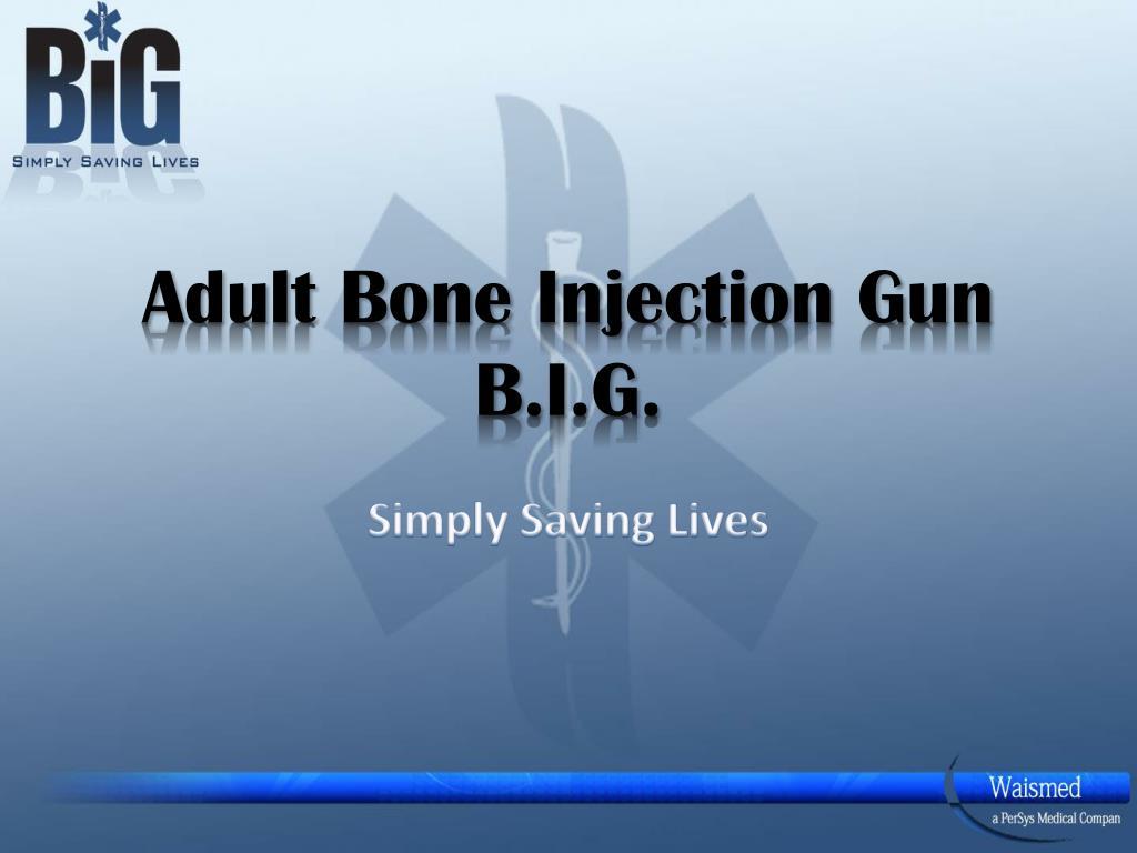 adult bone injection gun b i g l.