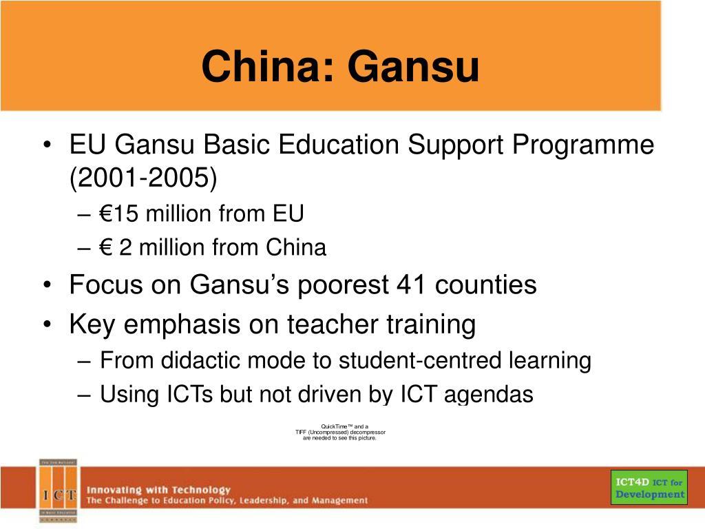 China: Gansu