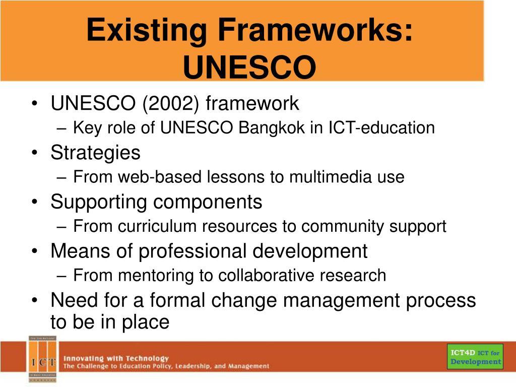 Existing Frameworks: UNESCO