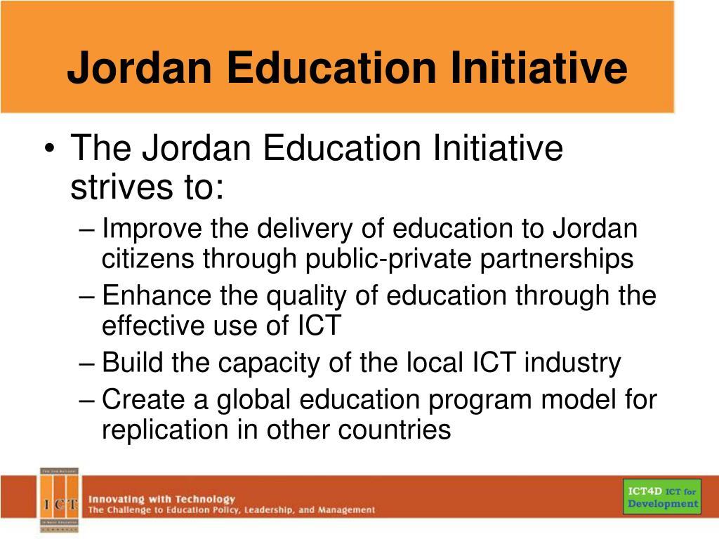 Jordan Education Initiative