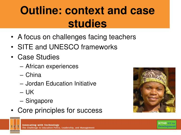 Outline context and case studies