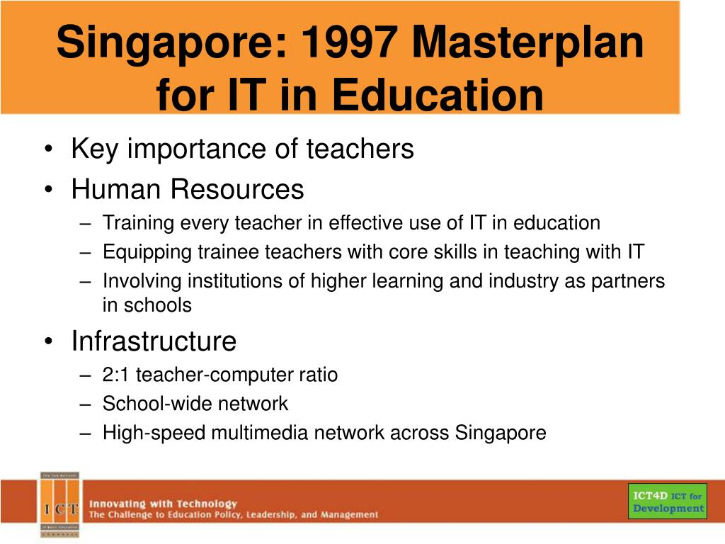 Singapore: 1997 Masterplan for IT in Education