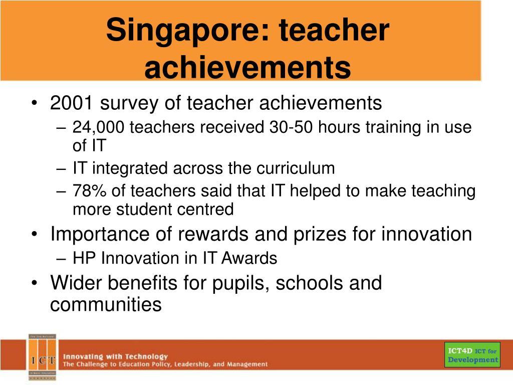 Singapore: teacher achievements