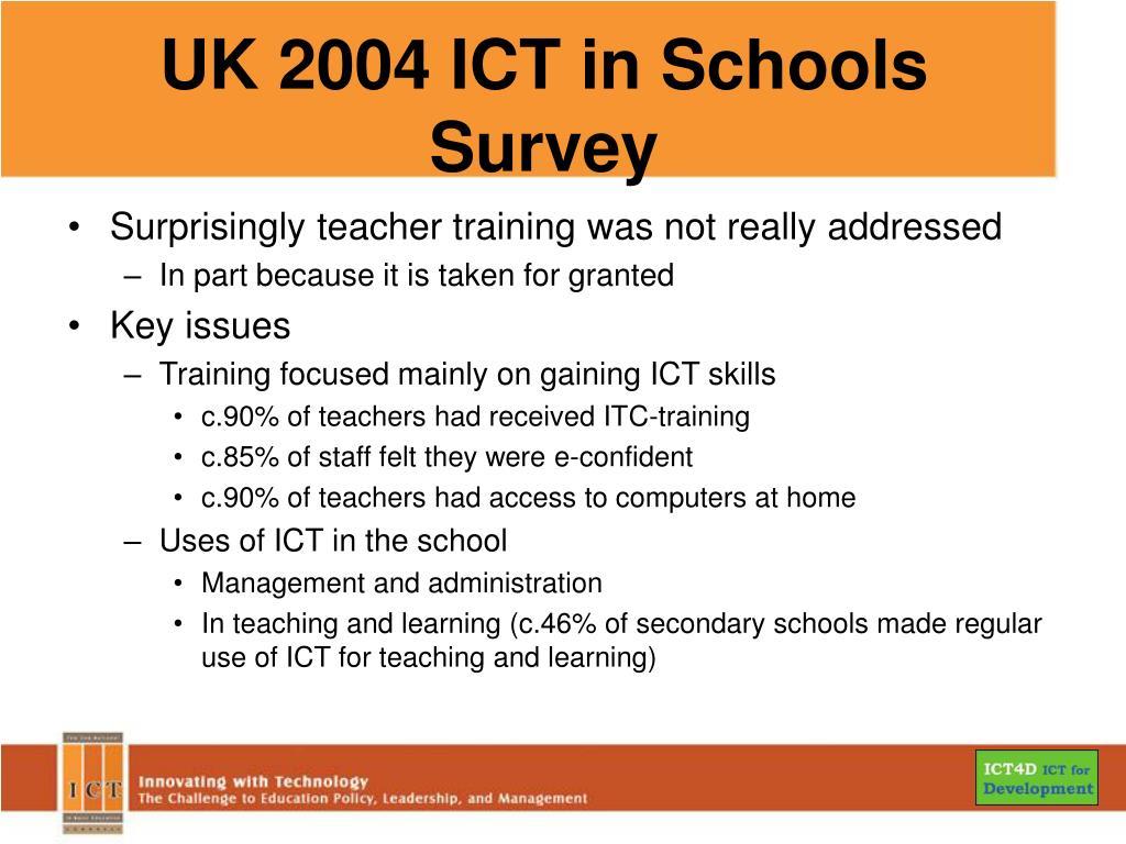 UK 2004 ICT in Schools Survey