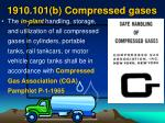 1910 101 b compressed gases