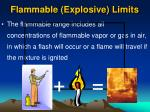 flammable explosive limits