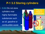 p 1 3 3 storing cylinders