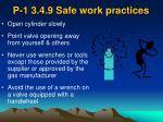p 1 3 4 9 safe work practices