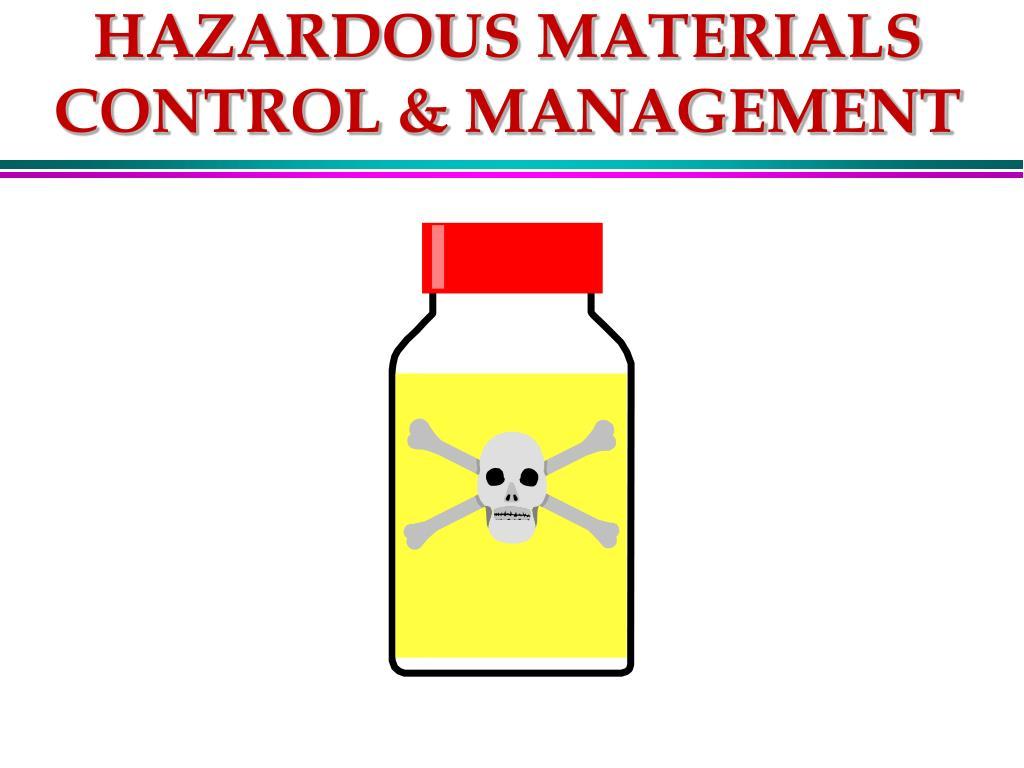 hazardous materials control management l.