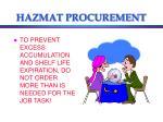 hazmat procurement