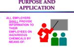 purpose and application