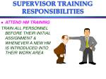 supervisor training responsibilities