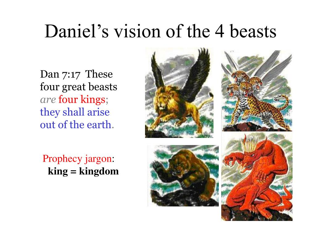 Daniel's vision of the 4 beasts