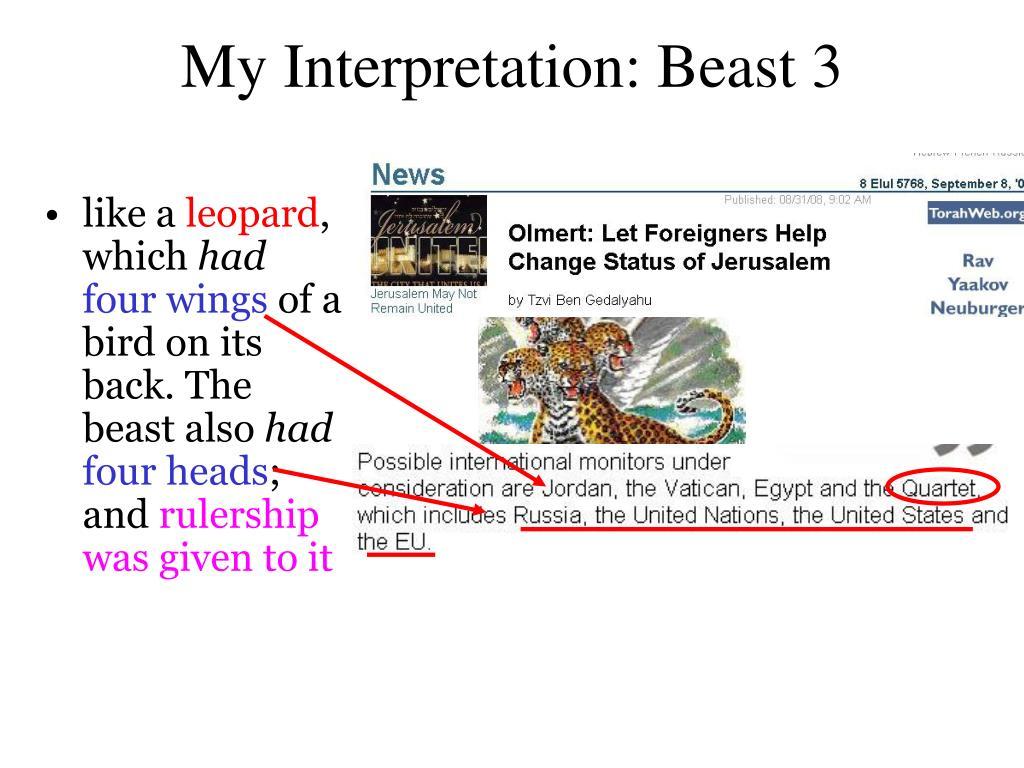 My Interpretation: Beast 3